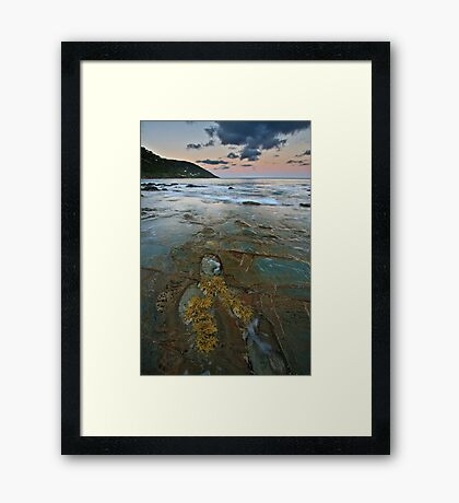 Pavement at Wye River Framed Print