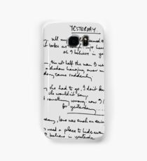 Yesterday Lyrics Samsung Galaxy Case/Skin