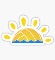 Wasserball-Sonnenuntergang Sticker