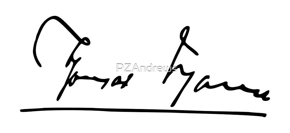 Signature of Thomas Mann by PZAndrews
