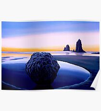 Earth Sunrise Painting Poster