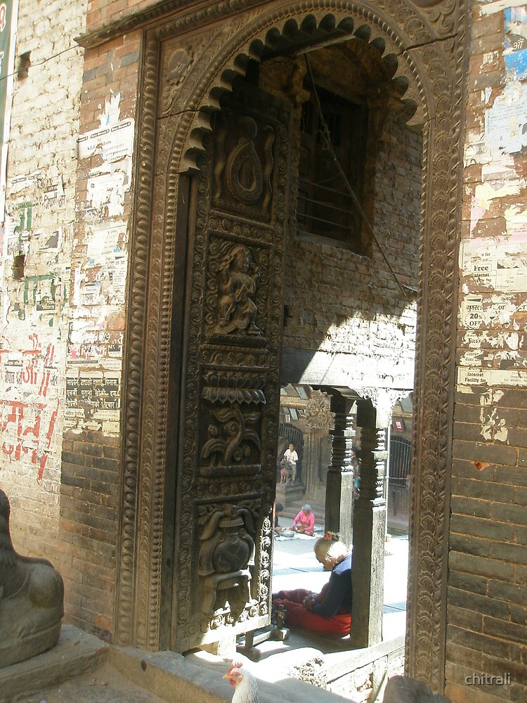 An ancient doorway, an ancient life remembered:Bhaktapur by chitrali