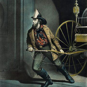 The American Fireman - Always Ready - 1858 by warishellstore