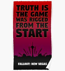 Fallout New Vegas - Benny's Infamous Quote Poster