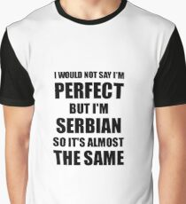Funny Serbian Gift for Serbia Pride Perfect Husband Wife Present Graphic T-Shirt