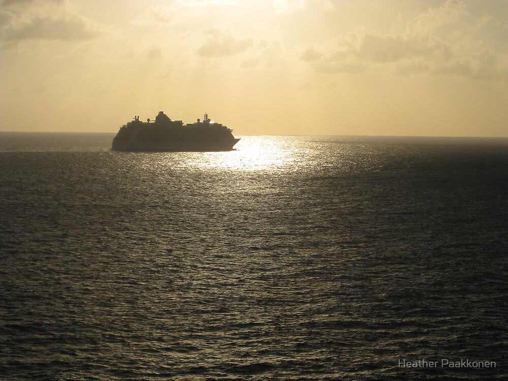 Sunrays on the ocean. by Heather Paakkonen