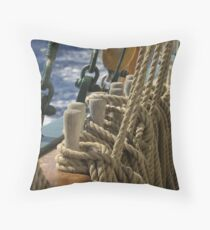 "Sailing: Schoner ""Sir Robert"" 2 - www.sir-robert.com Throw Pillow"