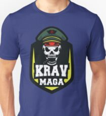 Awesome Cool Krav Maga Military Grim Reaper Skull Design Unisex T-Shirt