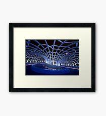 Webb Bridge Blue  Framed Print