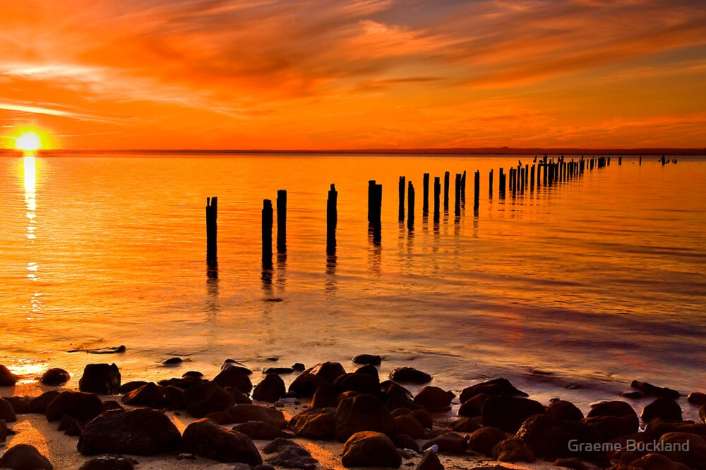 Sunset At The Springs - Clifton Springs by Graeme Buckland