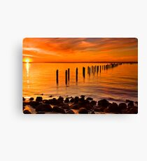 Sunset At The Springs - Clifton Springs Canvas Print