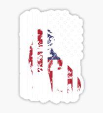 American Bully Pitbull Flag Perfect Pitbull Lover gift Sticker