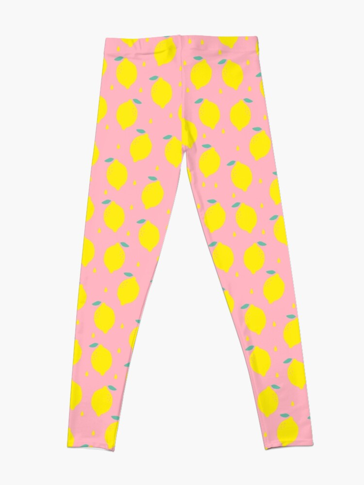 Alternate view of Sweet Lemon Pattern Leggings