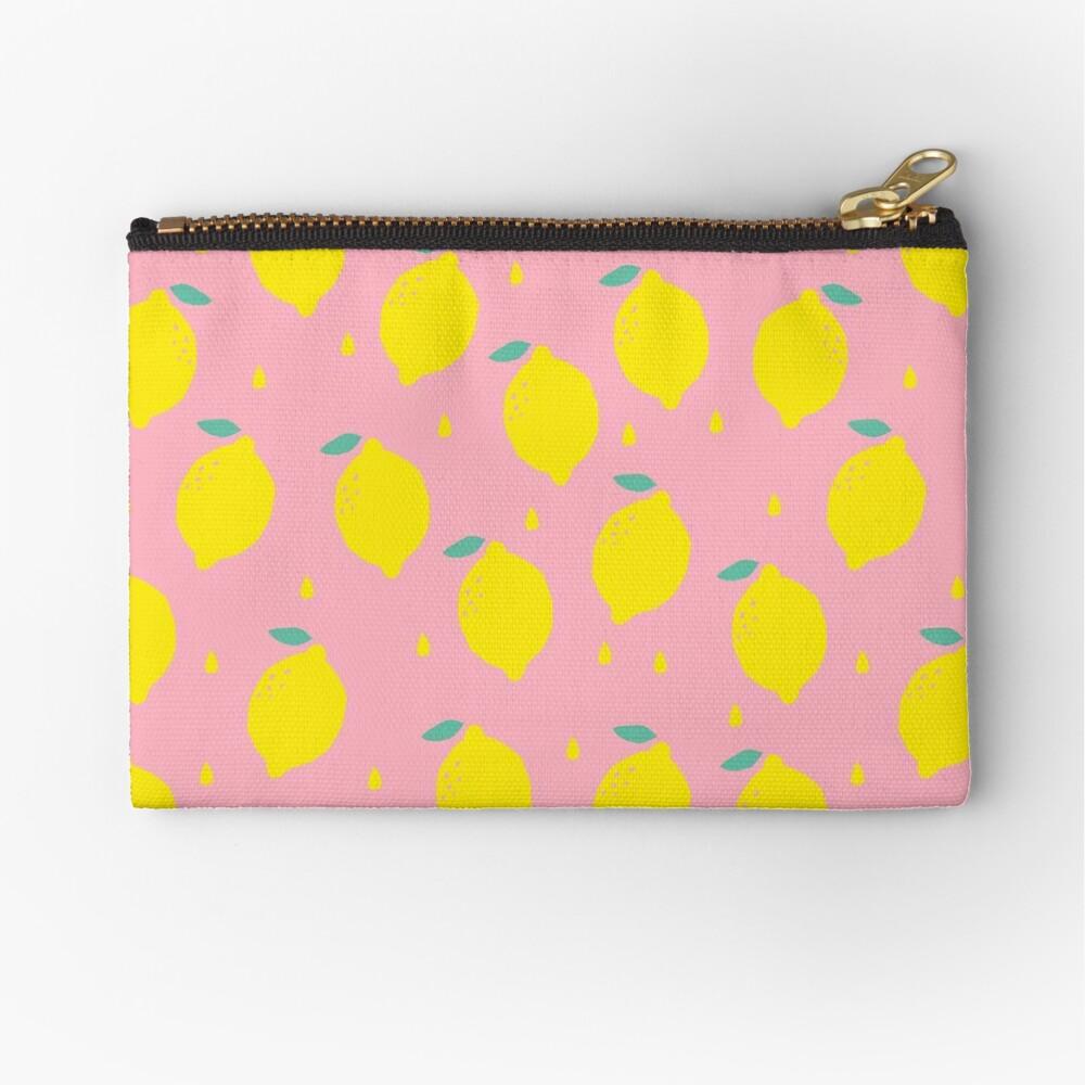 Sweet Lemon Pattern Zipper Pouch