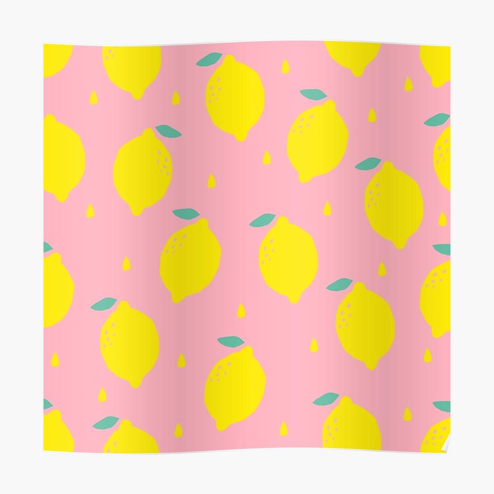 Sweet Lemon Pattern Poster