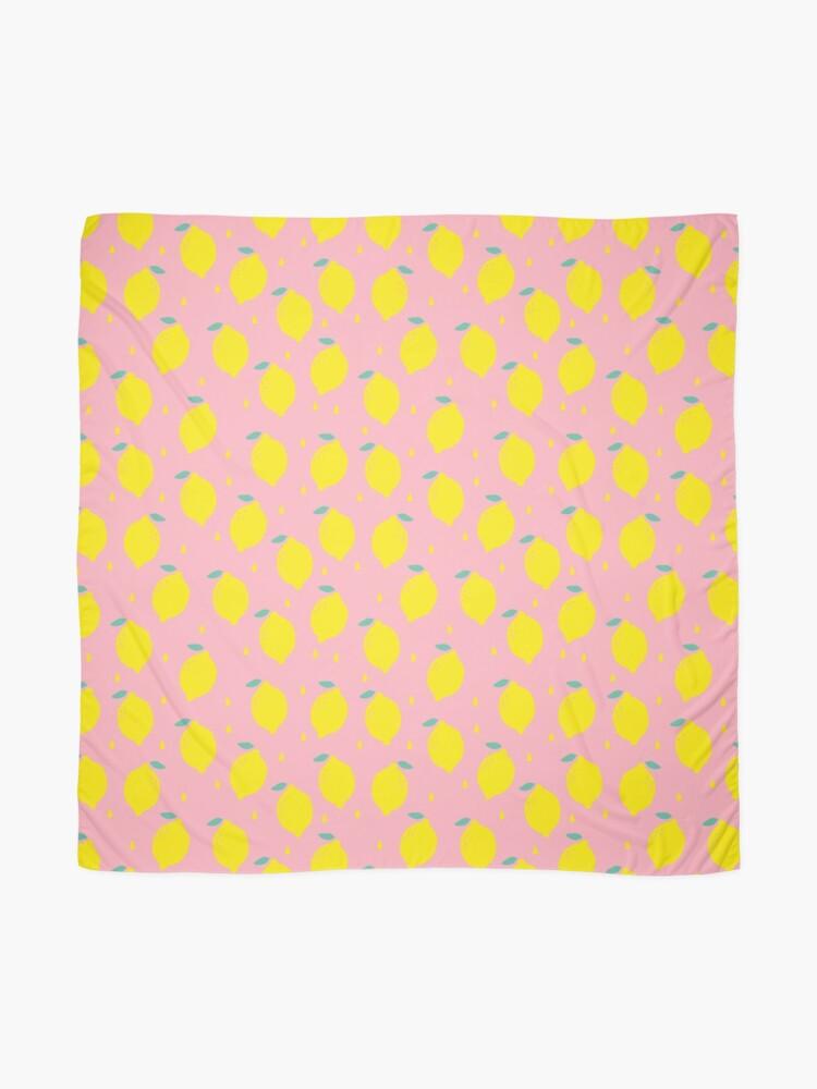 Alternate view of Sweet Lemon Pattern Scarf