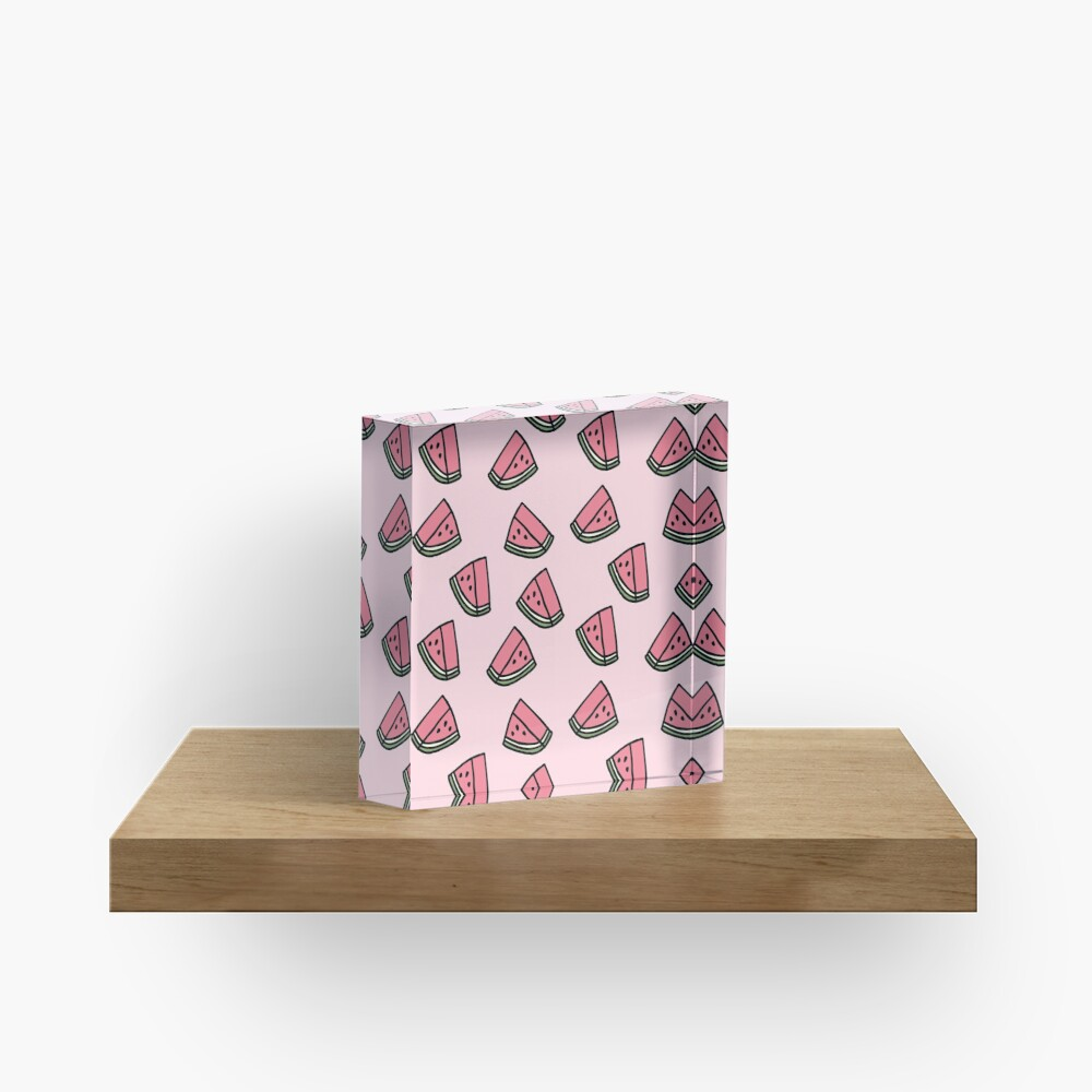 Kawaii Wassermelonen-Muster Acrylblock