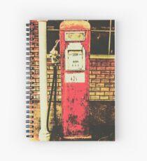 Cuaderno de espiral Antigua estación de servicio de gasolinera