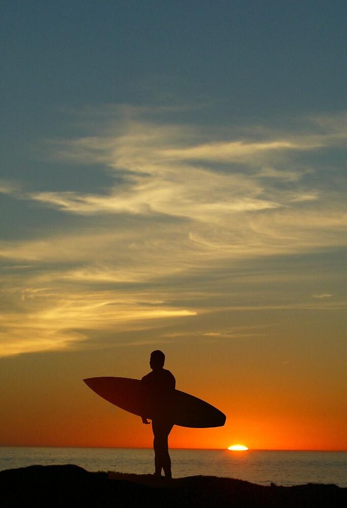 Surfer Sunset by DanielPhoto