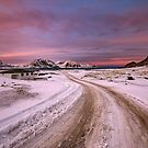 Road To Haukland Beach by John Dekker