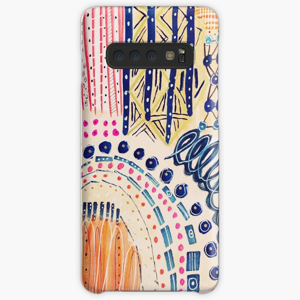 Shakti Abstract Hand Painted Design Case & Skin for Samsung Galaxy