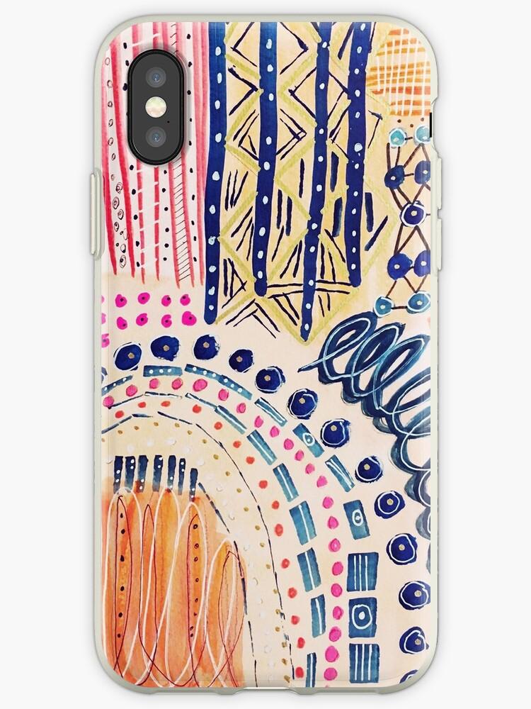 Shakti abstraktes handgemaltes Design von melaniebiehle