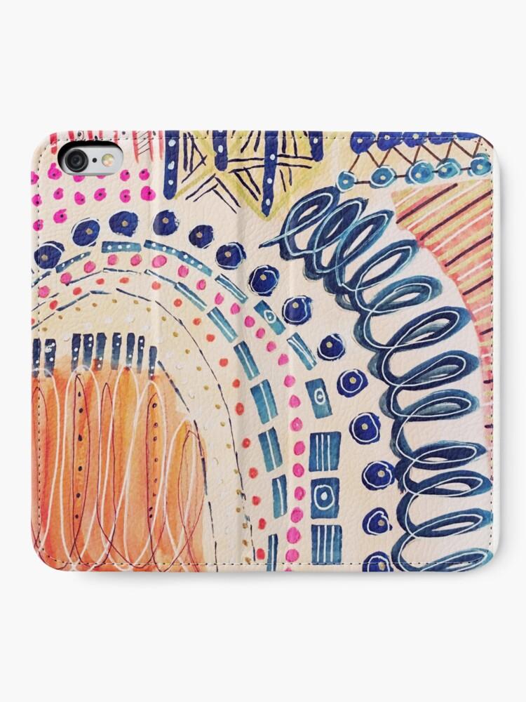 Alternative Ansicht von Shakti abstraktes handgemaltes Design iPhone Flip-Case