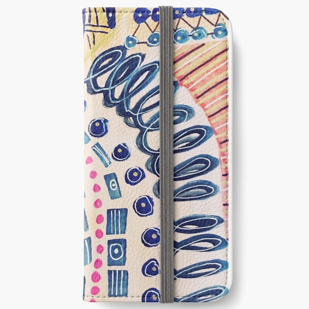 Shakti abstraktes handgemaltes Design iPhone Flip-Case