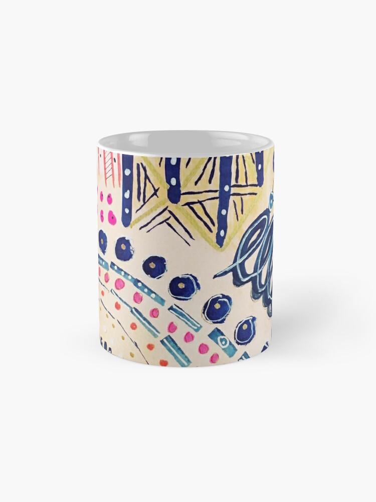 Alternative Ansicht von Shakti abstraktes handgemaltes Design Tasse