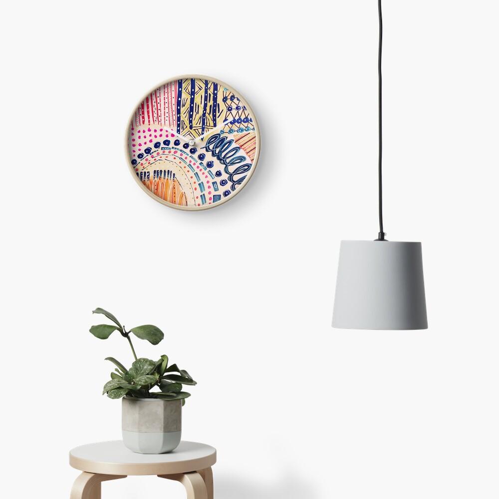 Shakti abstraktes handgemaltes Design Uhr