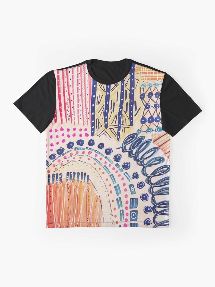 Alternative Ansicht von Shakti abstraktes handgemaltes Design Grafik T-Shirt
