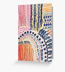 Shakti Abstract Hand Painted Design Greeting Card