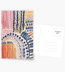 Shakti Abstract Hand Painted Design Postcards