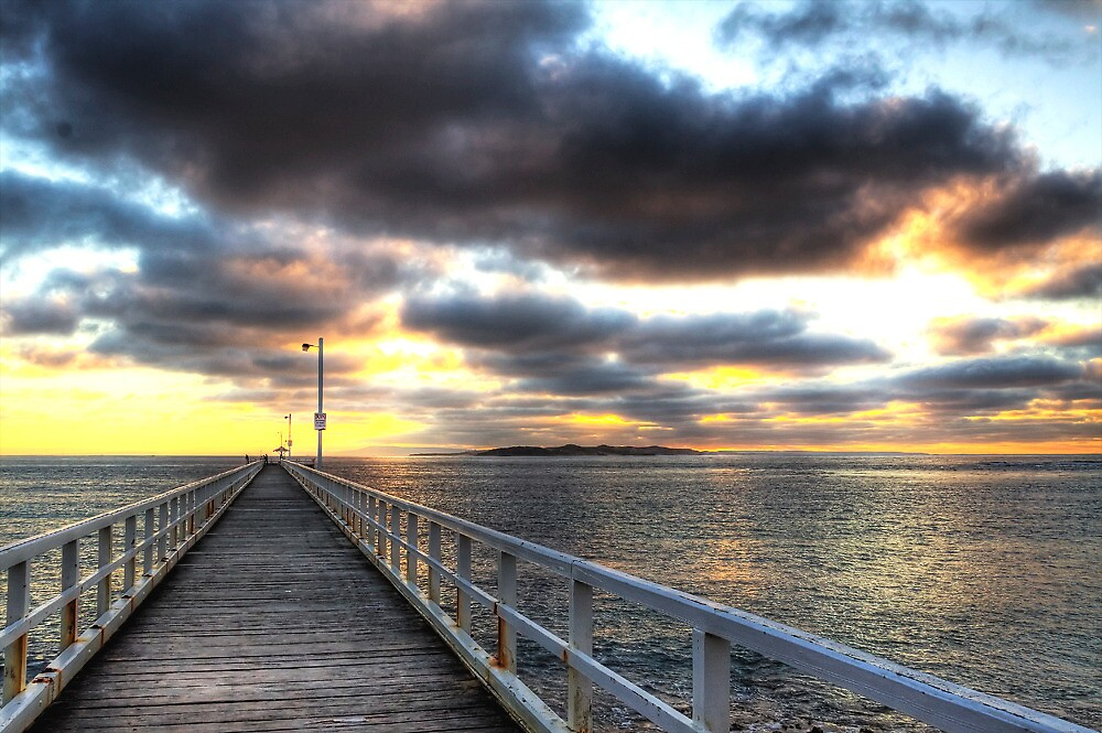 """Sunrise at """"The Rip"""", Point Lonsdale by Lynden"""