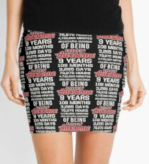 9th Birthday Shirt | Birthday Countdown | Of Being Awesome Mini Skirt