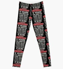 9th Birthday Shirt | Birthday Countdown | Of Being Awesome Leggings