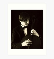 Pizzicato Cellist Art Print