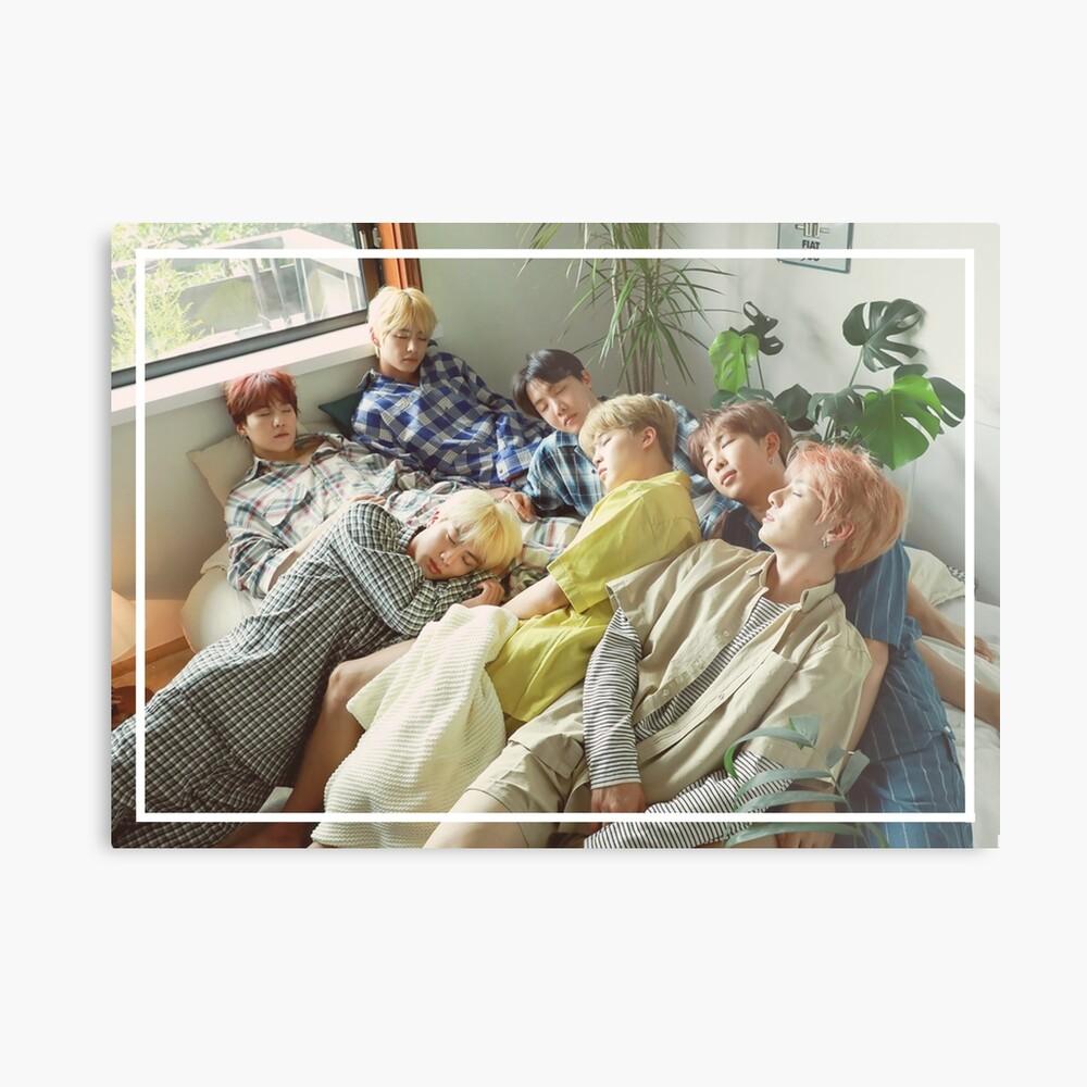 Sueño - Foto linda del grupo BTS - SG 2019 Lámina metálica