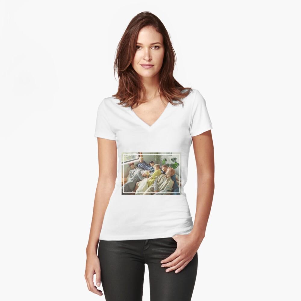 Sueño - Foto linda del grupo BTS - SG 2019 Camiseta entallada de cuello en V