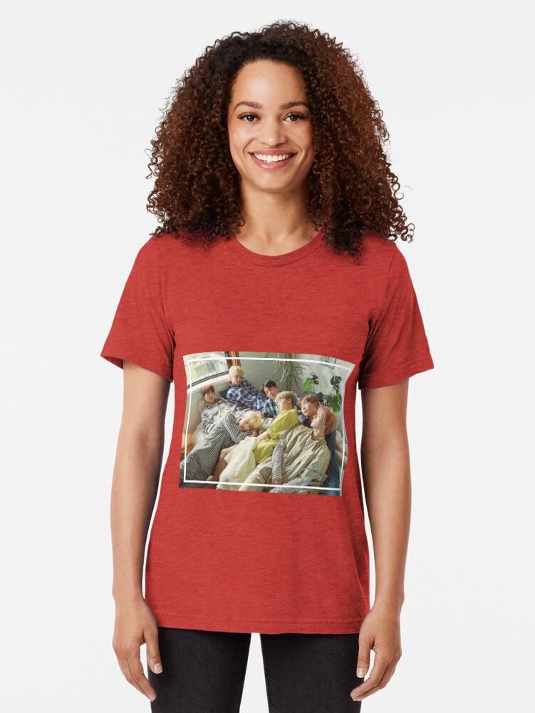 Vista alternativa de Camiseta de tejido mixto Sueño - Foto linda del grupo BTS - SG 2019