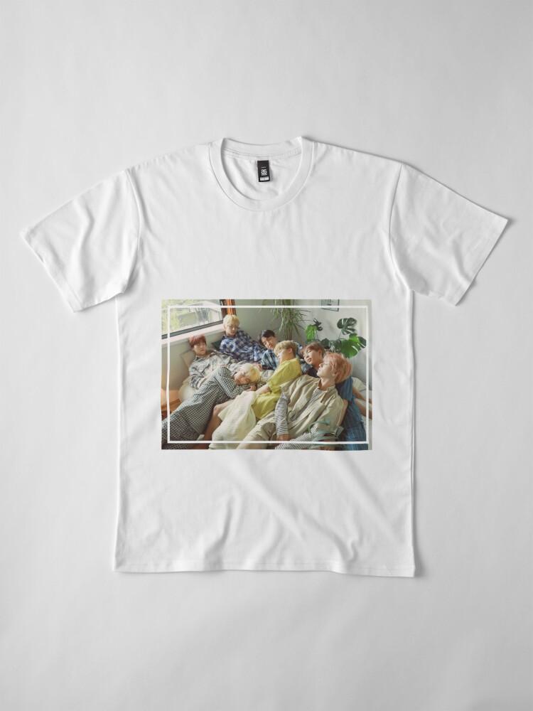 Vista alternativa de Camiseta premium Sueño - Foto linda del grupo BTS - SG 2019