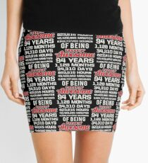 94th Birthday Shirt | Birthday Countdown | Of Being Awesome Mini Skirt