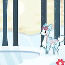 Winter Fawn by Cosmopoliturtle