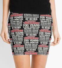 100th Birthday Shirt | Birthday Countdown | Of Being Awesome Mini Skirt