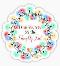 Naughty List Sticker