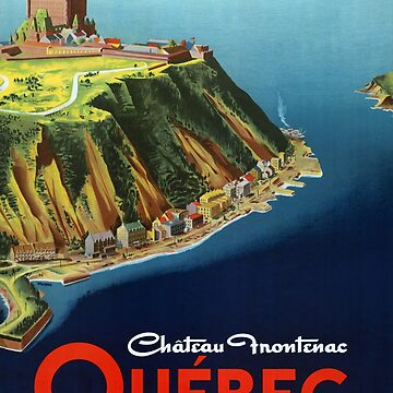 Canada Quebec Vintage Travel Poster Restored by vintagetreasure