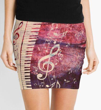 Klaviertastatur mit Musiknoten Grunge Minirock