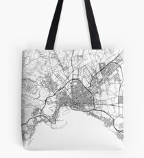 Palma de Mallorca map poster print wall art, Spain gift, Home and Nursery, Modern map decor for office, Map Art, Map Gifts Tote Bag
