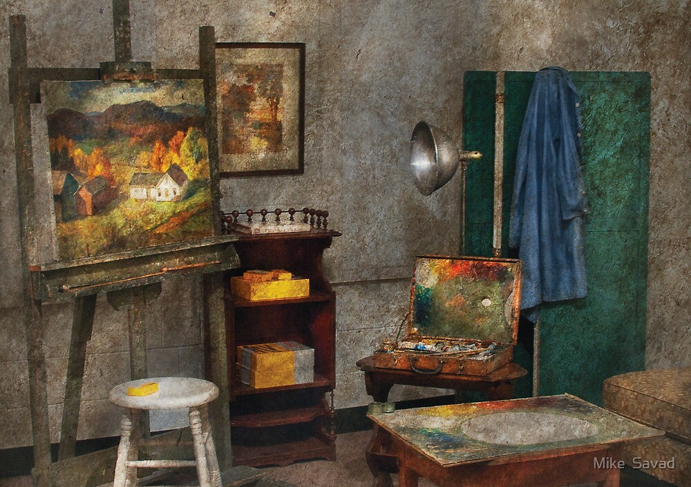Painter - The Artists Studio by Michael Savad
