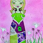 FREEDOM Whimsical Girl In The Wild Flowers by Lisafrancesjudd